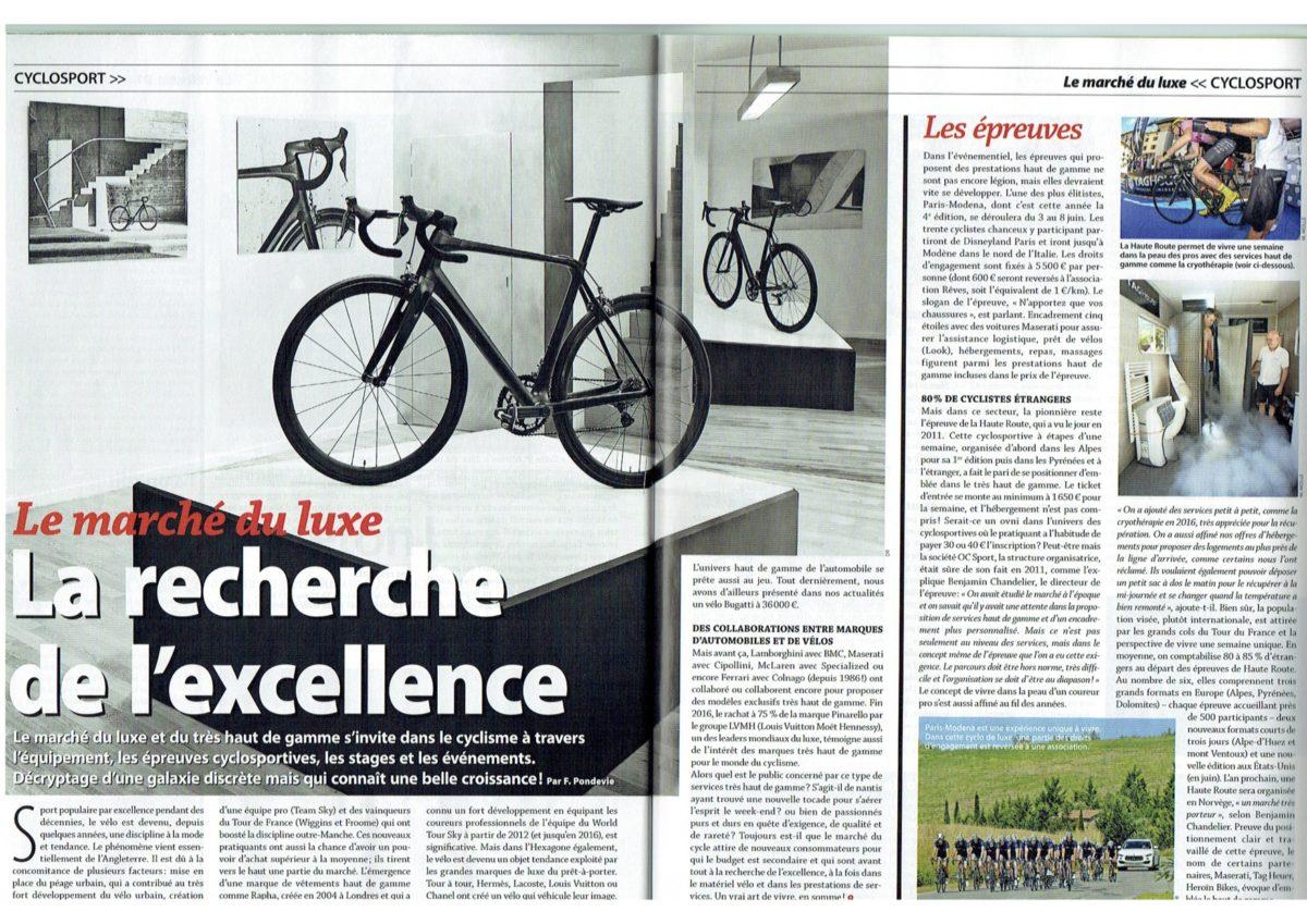 Le Cycle - La recherche de l'excellence